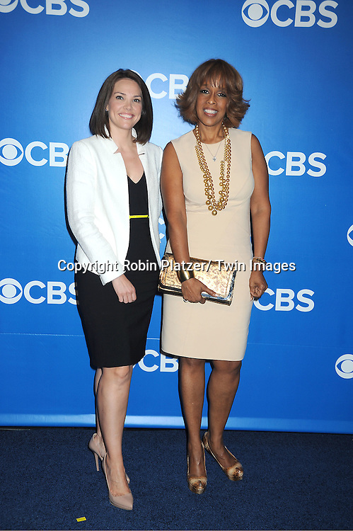 Erica Hill and Gayle King attends the CBS Upfront 2012 at The Tent at Lincoln Center in New York City on May 16, 2012.