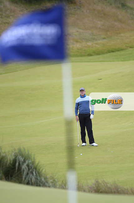 Jamie Donaldson (WAL) contemplates approach shot to the 9th during Round One of the 2016 Aberdeen Asset Management Scottish Open, played at Castle Stuart Golf Club, Inverness, Scotland. 07/07/2016. Picture: David Lloyd | Golffile.<br /> <br /> All photos usage must carry mandatory copyright credit (&copy; Golffile | David Lloyd)