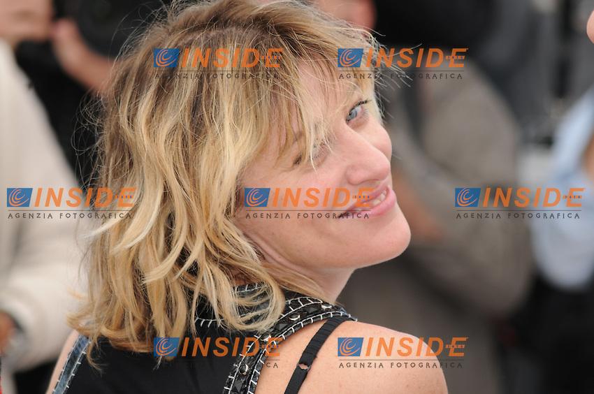 L equipe du film Un chateau en Italie ; Valeria Bruni Tedeschi .Cannes 21/5/2013 .Festival del Cinema di Cannes .Foto Panoramic / Insidefoto .ITALY ONLY