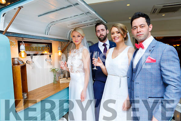 Models timmy Dowd Tralee, Maeve Carey Tralee, Aisling O'Sullivan and Sean McCarthy Killarney at the Killarney Heights hotel wedding fair on Sunday