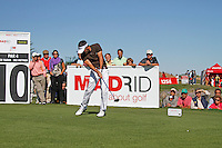 Eduardo De La Riva (ESP) tees off on the 10th tee during Sunday's Final Round of the Bankia Madrid Masters at El Encin Golf Hotel, Madrid, Spain, 9th October 2011 (Photo Eoin Clarke/www.golffile.ie)
