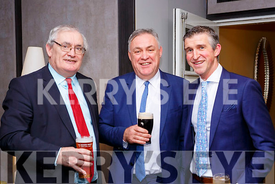 Johnny Mulvihill, Donal Mulvihill and Conor Fitzgerald at the O'Sé brothers testimonial in aid of An Gaelteacht field fund in the INEC on Friday night