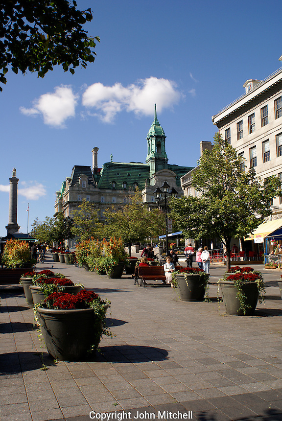 Place Jacques Cartier in Old Montreal, Quebec, Canada