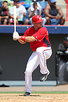 Washington Nationals Ryan Zimmerman #11 at bat during a spring training game against the Florida Marlins at Spacecoast Stadium on March 27, 2011 in Melbourne, Florida.  Photo By Mike Janes/Four Seam Images