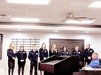 COURTESY PHOTO FFA members give a presentation to the McDonald County R-1 School District Board of Education.