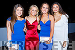 Jessica Barrett, Caitlyn Brick, Jennifer McLoughlan and Jasmine Ryle attending the CBS the Green Debs in the Ballyroe Heights Hotel on Monday night.