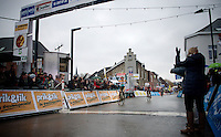 Tom Meeusen (BEL/Telenet-Fidea) wins the finish sprint ahead of Klaas Vantornout (BEL/Sunweb-Napoleon Games)<br /> <br /> Druivencross Overijse 2014