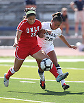 Nevada's Chrisalyn Fonte fights for the ball with UNLV's Jenna Howerton during a soccer game in Reno, Nev., on Sunday, Sept. 3, 2011..Photo by Cathleen Allison