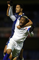 Timothee Dieng of Southend United fouls Morgan Ferrier of Tranmere Rovers during Southend United vs Tranmere Rovers, Sky Bet EFL League 1 Football at Roots Hall on 11th January 2020