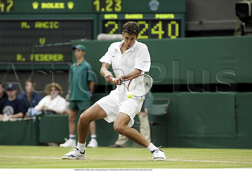 MARIO ANCIC (CRO), Men's Singles Round 1, Wimbledon 2002, 020625 Photo:Glyn Kirk/Action Plus...Tennis.The Championships.man.