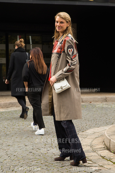 Angela Lindvall attend Miu Miu Show Front Row - Paris Fashion Week  2016.<br /> October 7, 2015 Paris, France<br /> Picture: Kristina Afanasyeva / Featureflash