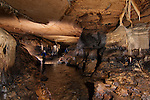Multi-flash shot in large cave passage.