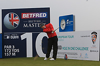 Chris Paisley (ENG) on the 10th tee during the Pro-Am of the Betfred British Masters 2019 at Hillside Golf Club, Southport, Lancashire, England. 08/05/19<br /> <br /> Picture: Thos Caffrey / Golffile<br /> <br /> All photos usage must carry mandatory copyright credit (&copy; Golffile | Thos Caffrey)