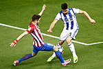 Atletico de Madrid's Saul Niguez (l) and Real Sociedad's Yuri Berchiche during La Liga match. April 4,2017. (ALTERPHOTOS/Acero)