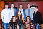 Front row l-r: Jamie Twomey, Georgina O'Shea, Emma Hayes. Back row: Emmatte and Cian, James Tadhg, Darren Twomey at the Fossa GAA social in the Killarney Avenue Hotel on Saturday night
