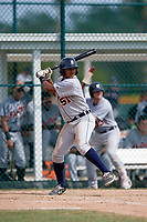 Detroit Tigers Dane Myers (51) at bat during an Instructional League game against the Pittsburgh Pirates October 6, 2017 at Pirate City in Bradenton, Florida.  (Mike Janes/Four Seam Images)