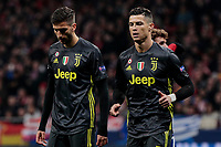Rodrigo Bentancur and Cristiano Ronaldo of Juventus dejection during UEFA Champions League match, Round of 16, 1st leg between Atletico de Madrid and Juventus at Wanda Metropolitano Stadium in Madrid, Spain. February 20, 2019. (Insidefoto/ALTERPHOTOS/A. Perez Meca)<br /> ITALY ONLY