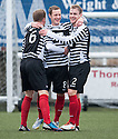 Shire's David Greenhill (8) celebrates after he scores their first goal.