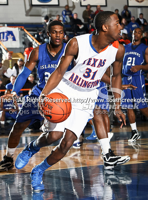 Texas-Arlington Mavericks guard/forward LaMarcus Reed III (31) in action during the game between the Texas A&M- Corpus Christi Islanders and the University of Texas-Arlington Mavericks held at the University of Texas in Arlington's Texas Hall in Arlington, Texas. UTA defeats Texas A&M- Corpus Christi 70 to 49..