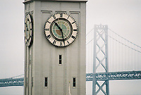 Photo of Clocktower and Bay Bridge in San Francisco