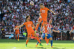 "Atletico de Madrid's Gabriel ""Gabi"" Fernández and SD Eibar's Pedro Leon Sanchez and Florian Lejeune during Liga Liga match between Atletico de Madrid and SD Eibar at Vicente Calderon Stadium in Madrid, May 06, 2017. Spain.<br /> (ALTERPHOTOS/BorjaB.Hojas)"