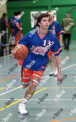 2009-01-04 / Basketbal / Oxaco BBC - BBC Technico / Robin Sas..Foto: Maarten Straetemans (SMB)