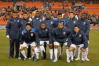 CD Olimpia team photo in the home game of  the second leg of the Concacaf Champions' Cup  match between DC. United and CD. Olimpia from Honduras, DC United defeated CD. Olimpia 3-2  to advance to the semi finals of this year's Champions' Cup and play CD Guadalajara from Mexico in a series beginning in mid-March,  March 1, 2007, at RFK Stadium in Washington, DC.