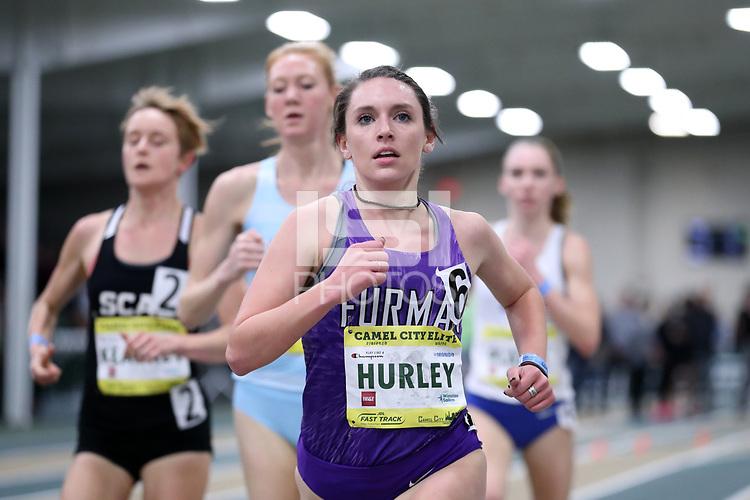 WINSTON-SALEM, NC - FEBRUARY 08: Emma Grace Hurley #6 of Furman University runs in the Women's Camel City Elite 3000 Meters at JDL Fast Track on February 08, 2020 in Winston-Salem, North Carolina.