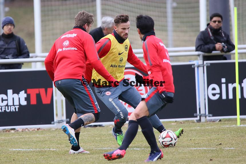 Haris Seferovic gegen Marco Russ - Eintracht Frankfurt Training, Commerzbank Arena