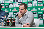 10.02.2019, Weserstadion, Bremen, GER, 1.FBL, Werder Bremen vs FC Augsburg<br /> <br /> DFL REGULATIONS PROHIBIT ANY USE OF PHOTOGRAPHS AS IMAGE SEQUENCES AND/OR QUASI-VIDEO.<br /> <br /> im Bild / picture shows<br /> Manuel Baum (Trainer / Head Coach FC Augsburg) bei PK / Pressekonferenz nach dem Spiel, <br /> <br /> Foto &copy; nordphoto / Ewert
