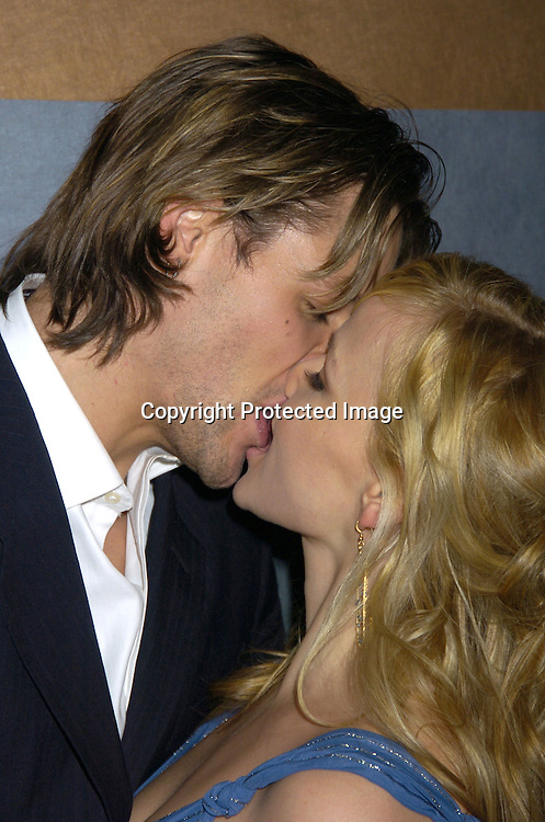 Justin Bruening and Alexa Havins..at the Rainbow Room at the celebration for All My Childrens's 35th Anniversary after a show at Town Hall benefitting Broadway Cares Equity Fights Aids on February 7, 2005. ..Photo by Robin Platzer, Twin Images