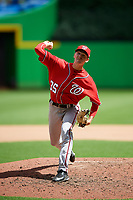 Washington Nationals pitcher Chandler Day (35) delivers a pitch during a Florida Instructional League game against the Miami Marlins on September 26, 2018 at the Marlins Park in Miami, Florida.  (Mike Janes/Four Seam Images)