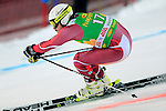 competes during the FIS Alpine Ski World Cup Men's Parallel Giant Slalom in Alta Badia, on December 21, 2015. Norway's Kjetil Jansrud wins the race, Aksel Lund Svindal second and Sweden's Andre Myrher is third.