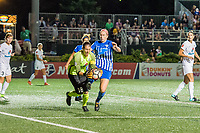 Boston, MA - Friday August 04, 2017: Nicole Barnhart and Natasha Dowie during a regular season National Women's Soccer League (NWSL) match between the Boston Breakers and FC Kansas City at Jordan Field.