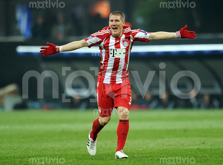 FUSSBALL   CHAMPIONS LEAGUE   SAISON 2010/2011   Achtelfinale 23.02.2011 Inter Mailand - FC Bayern Muenchen Bastian Schweinsteiger (FC Bayern Muenchen)