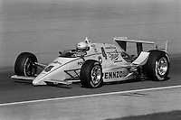 INDIANAPOLIS, IN - MAY 31: Rick Mears drives his March 86C 22/Cosworth during practice for the Indianapolis 500 USAC Indy Car race at the Indianapolis Motor Speedway in Indianapolis, Indiana, on May 31, 1986.