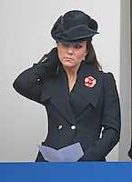 English Royals attend Remembrance Service at Cenotaph, London - UK