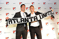 Philadelphia, PA - Thursday January 19, 2018:Oliver Shannon, Gordon Wild during the 2018 MLS SuperDraft at the Pennsylvania Convention Center.