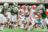 NWA Democrat-Gazette/BEN GOFF @NWABENGOFF<br /> Devwah Whaley, Arkansas running back, carries in the 1st quarter vs Colorado State Saturday, Sept. 8, 2018, at Canvas Stadium in Fort Collins, Colo.