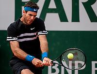 JUAN MARTIN DEL POTRO (ARG)<br /> <br /> TENNIS - FRENCH OPEN - ROLAND GARROS - ATP - WTA - ITF - GRAND SLAM - CHAMPIONSHIPS - PARIS - FRANCE - 2018  <br /> <br /> <br /> <br /> &copy; TENNIS PHOTO NETWORK