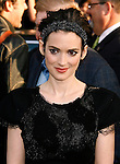 """HOLLYWOOD, CA. - April 30: Winona Ryder arrives at the Los Angeles premiere of """"Star Trek"""" at the Grauman's Chinese Theater on April 30, 2009 in Hollywood, California."""
