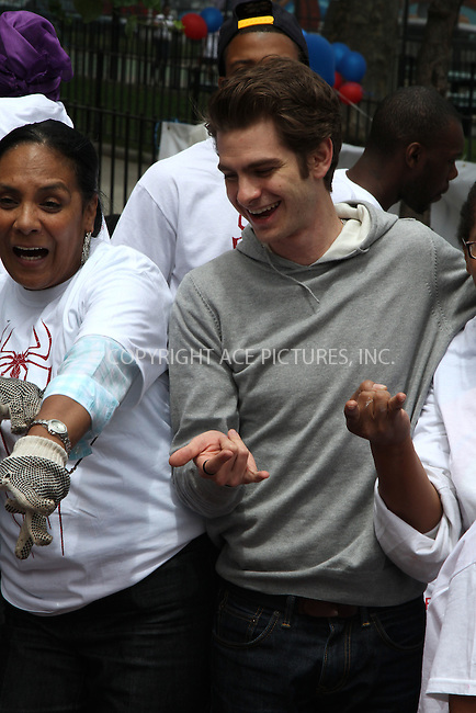 WWW.ACEPIXS.COM . . . . .  ....June 26 2012, New York City....Andrew Garfield at the 'Be Amazing' Stand Up Volunteer Initiative at Madison Boys And Girls Club on June 26, 2012 in Brooklyn, New York City. ....Please byline: Zelig Shaul - ACE PICTURES.... *** ***..Ace Pictures, Inc:  ..Philip Vaughan (212) 243-8787 or (646) 769 0430..e-mail: info@acepixs.com..web: http://www.acepixs.com