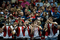 SPOKANE, WA - MARCH 28, 2011: Stanford Band, Stanford Women's Basketball vs Gonzaga, NCAA West Regional Finals at the Spokane Arena on March 28, 2011.