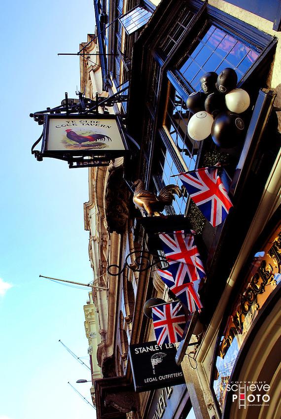 Ye Olde Cock Tavern in downtown London.