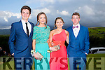 Enjoying a great time at the Milltown Presentation Debs at Ballyroe Heights Hotel on Tuesday were l-r Conor Dee, Orla Coffey, Ellen Hickey and Noel O'Brien