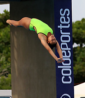 BARRANQUILLA - COLOMBIA, 22-07-2018: Competidora Viviana Uribe de Colombia , modalidad 10m plataforma.Juegos Centroamericanos y del Caribe Barranquilla 2018. /Competitor  Viviana Uribe of Colombia, 10m platform platform of the Central American and Caribbean Sports Games Barranquilla 2018. Photo: VizzorImage /  Contribuidor