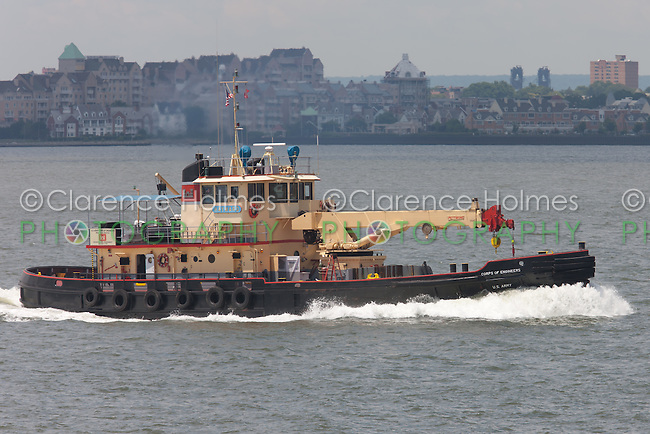 US Army Corps of Engineers drift collection vessel Hayward in New York Harbor.