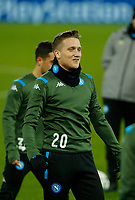 26th November 2019; Anfield, Liverpool, Merseyside, England; UEFA Champions League, Liverpool versus Napoli, Napoli Training; Piotr Zielinski of SSC Napoli during SSC Napoli's open training session at Anfield ahead of tomorrow's Champions League group match against Liverpool