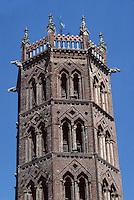 Europe/France/Midi-Pyrénées/09/Ariège/Couserans/Pamiers: La cathédrale St-Antonin - Le clocher hexagonal