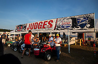 Aug. 17, 2013; Brainerd, MN, USA: View inside the Zoo at Brainerd International Raceway following NHRA qualifying for the Lucas Oil Nationals. Mandatory Credit: Mark J. Rebilas-